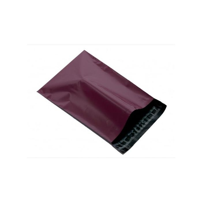 100 large Burgundy plastic mailing bags, mailer post envelopes strong Size 305mm x 405mm or 12 x 16 inches... More Quantity