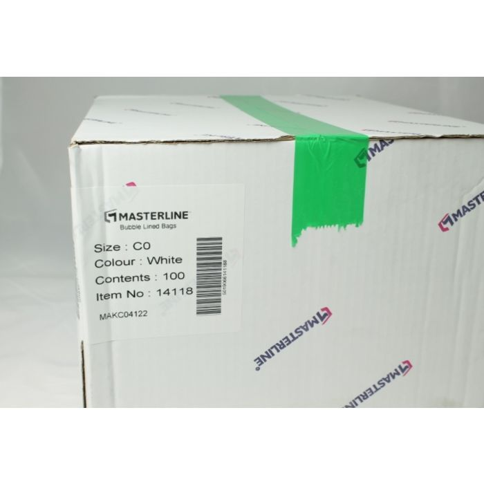 100 x C/0 White Masterline padded envelopes 100 C/0 150 x 216 mm 5.75 x 8.25, Bubble lined mailers