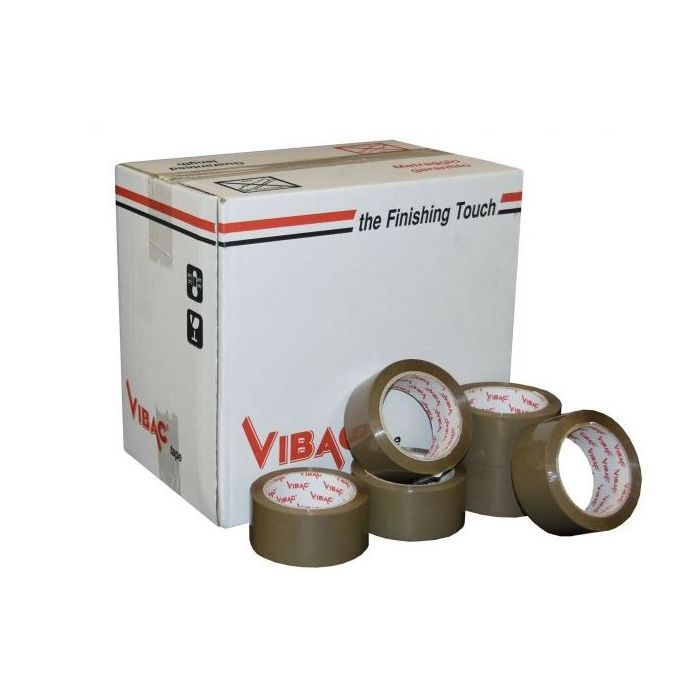 36 Rolls of Vibac Premium Brown Parcel packaging tape 48 mm Brown tape, low noise H. Melt Glue for strong great adhesion