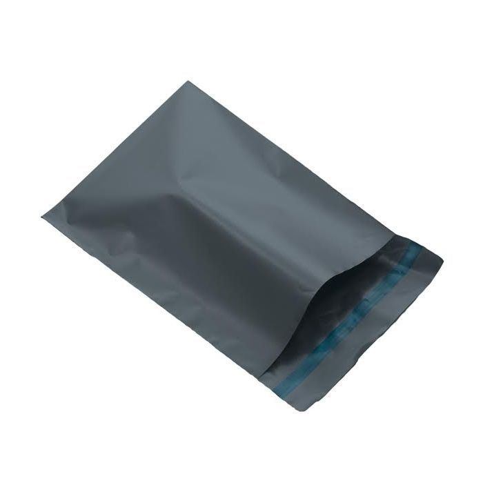 500 Grey plastic courier bags, medium to large Size 400mm x 525mm (16 x 20.5). Dispatch mail order mailers