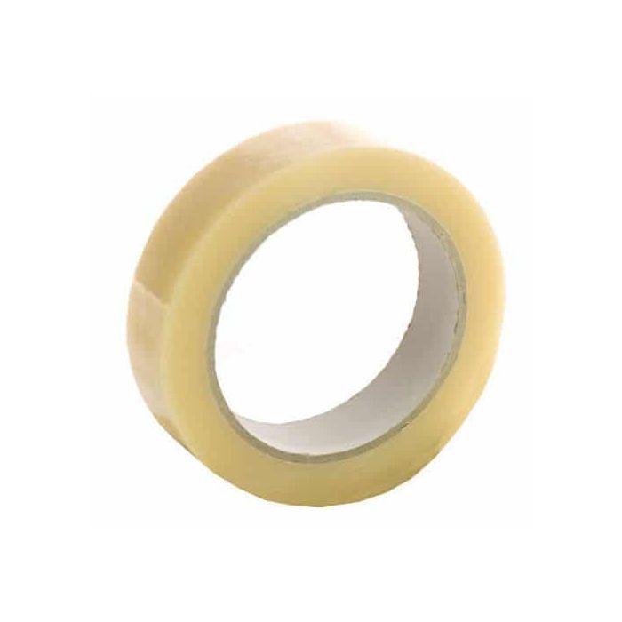 25mm wide clear parcel sealing tape