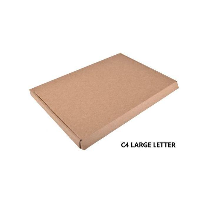 50 Die cut Postal box size L 335mm x W 235mm x Height 22mm, small posting box