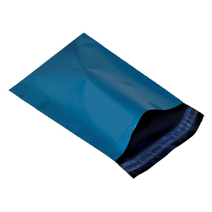 200 Blue plastic mailing bags, mailer post envelopes bags strong size 216mm x 356mm