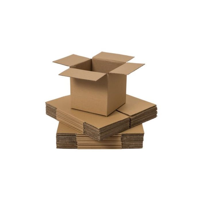 25 x Corrugated packing cardboard boxes size 12 x 12 x 12 or 305mm x 305mm  x 305mm  single wall box.