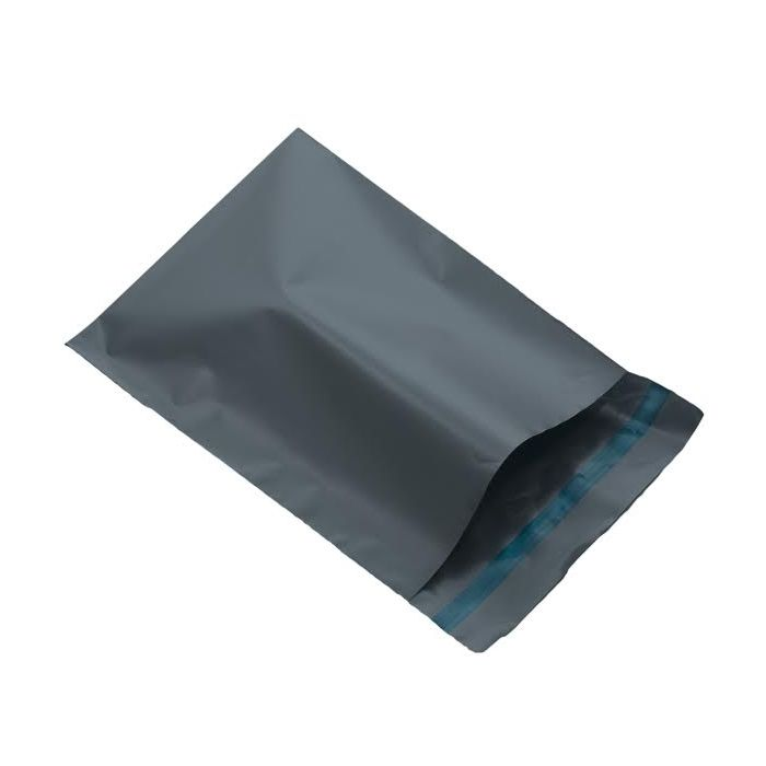 Grey plastic mailer Eco mailing bag size 305mm x 405mm or 12 x 16 inches large mailer