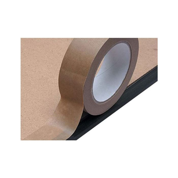 6 x Paper backed parcel sealing tape 50mm wide x 50 meters long strong