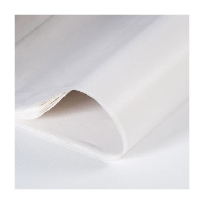 White Tissue Paper Full ream 480 sheets, 470mm x 690mm (18.5 x 27 inches) 17 gsm Thickness High quality