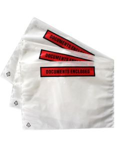 500 x A5 Document pouches Printed, document enclosed  225mm x 165mm peel and stick