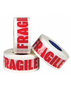 36 Rolls of High Quality Fragile marked  Parcel packaging tape 48 mm white fragile tape