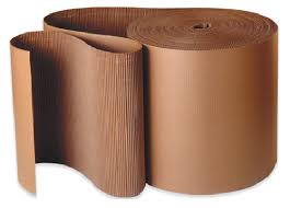 Corrugated carboard roll