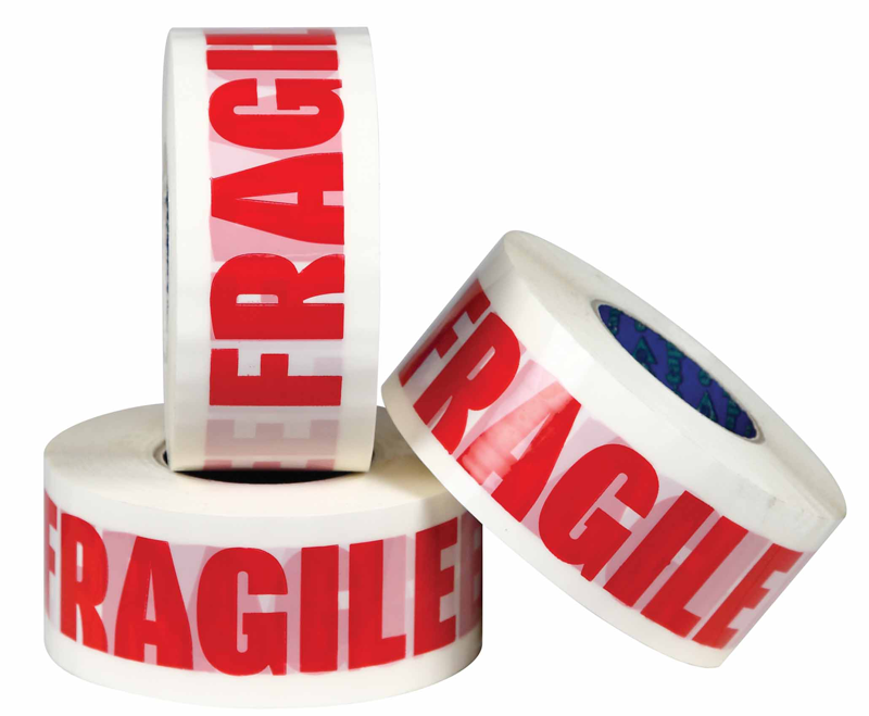 Fragile marked carton sealing tape