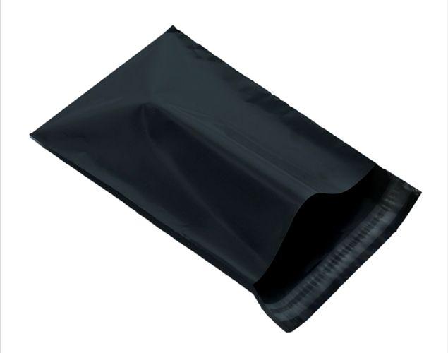 black plastic mailing envelope