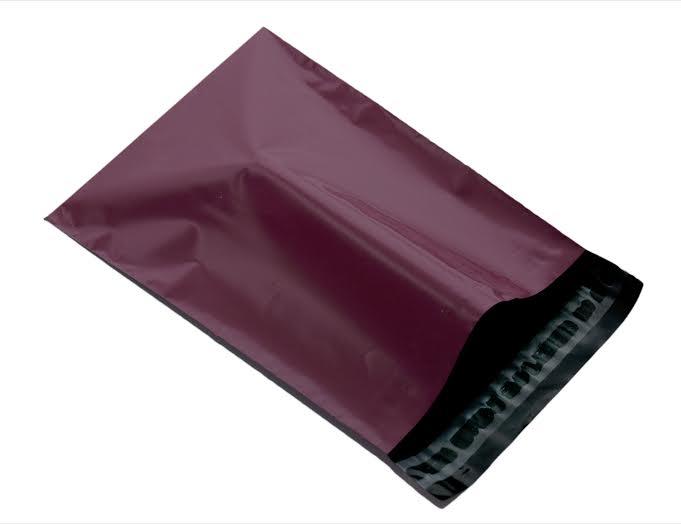 burgundy plastic mailing envelope