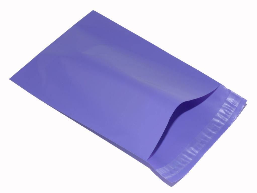 violet plastic mailing envelope
